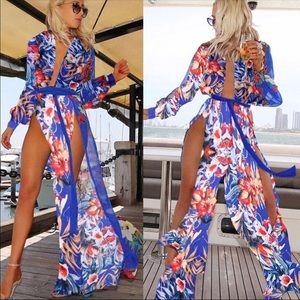 Other - Floral maxi coverup kimono
