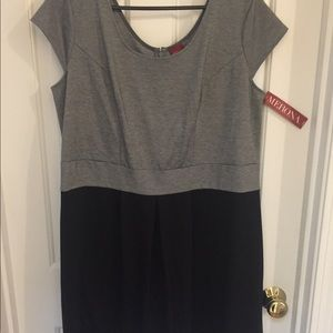 Merona Black and Gray short sleeve dress