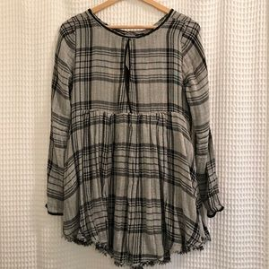 Free People plaid tunic