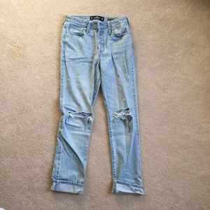 Vintages high waisted straight cut jeans
