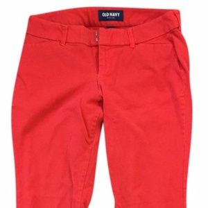 Old Navy Pixie Red Coral Capris