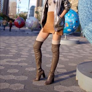 Zara over the knee thigh high leather boots 5