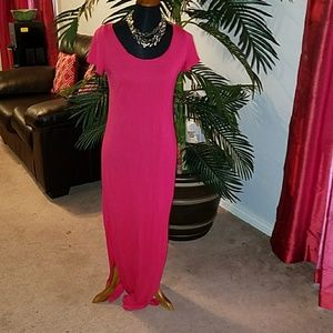 H & M Side slit maxi dress
