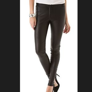 Alice + Olivia black leather legging RT $798 sz 6