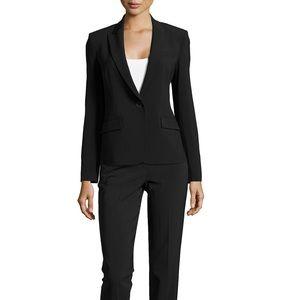Theory Stretch Wool One Button Black Blazer