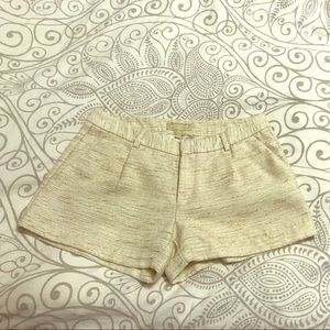 Cream Shorts with Gold and Beige threading