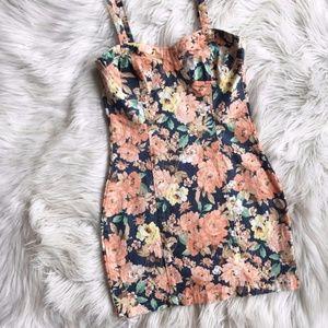 MINKPINK Floral Denim Mini Dress