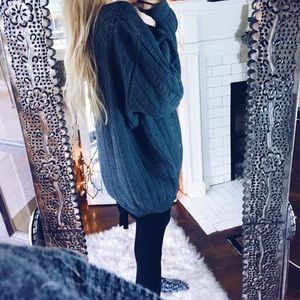 Sweaters - Freya Grey Chunky Cable Knit Sweater