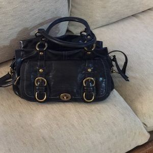 Classic Coach soft leather bag w/strap