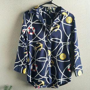 Ralph Lauren button nautical theme top