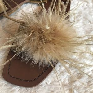 Furry & Gorgeous! Camel & Brown. Zara size 40.