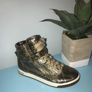 Michael Kors Gold Sneakers
