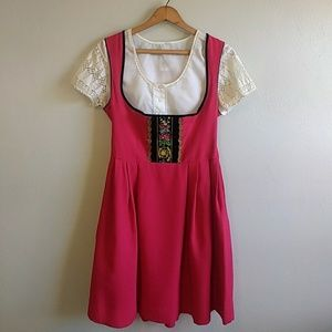 Vintage Authentic German Oktoberfest Dirndl Dress