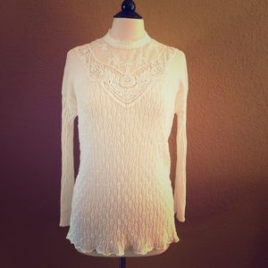 Lace and Knit Free People Sweater