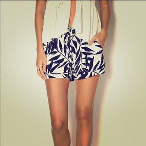Sanctuary Black White Printed Casual Shorts Sz XS