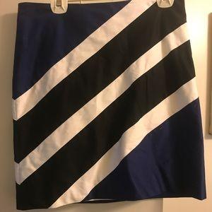 White House Black Market Sleek Stripe Skirt size10
