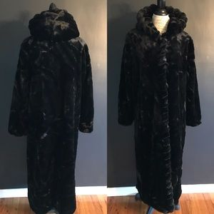 Vintage Faux Fur Trench Coat