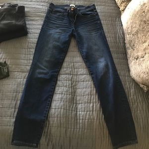 J. Crew mid rise toothpick jeans