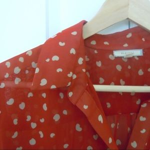 Pleione Heart Printed Blouse
