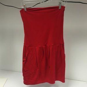 Susana Monaco Red Strapless Dress (M)