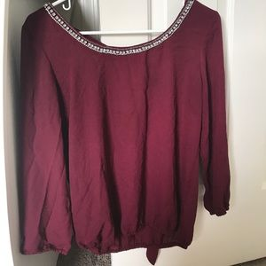 Charolette Russe burgundy top