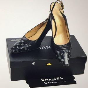 🆕 Chanel CC Logos Slingback pumps