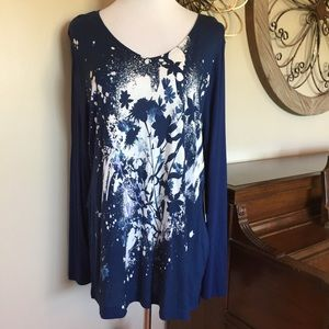 🆕 Simply Vera Wang Size XL Long Sleeve Top