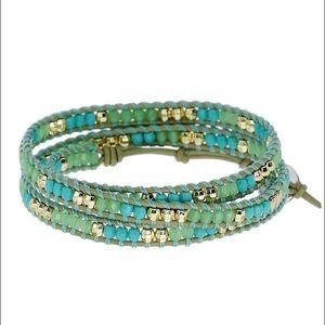 Stella & Dot Wanderlust Triple Wrap Bracelet
