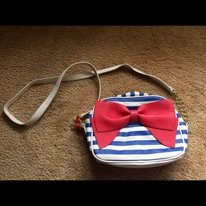 Betsey Johnson Nautical Stripe Crossbody Purse