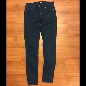 HUDSON SKINNY TEAL COLORED JEANS