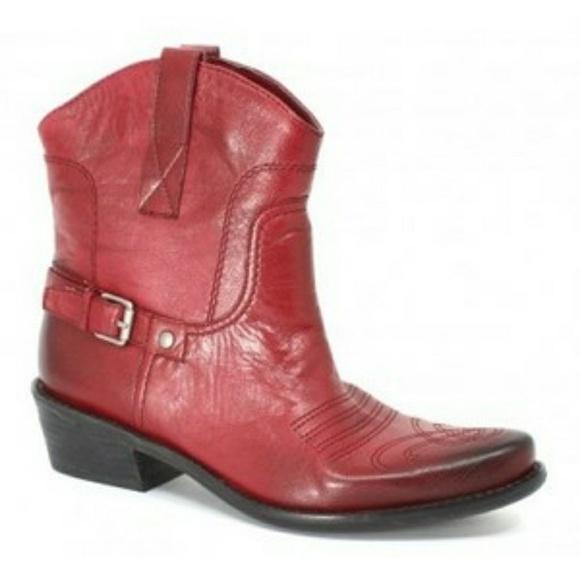 fc53cfb7eb4 Franco Sarto Waco red western cowboy ankle booties