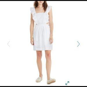 Madewell eyelet apron dress. White dress. New.