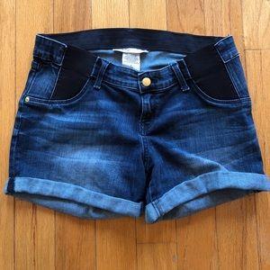 Maternity Liz Lange Midi Denim Shorts Small 4/6