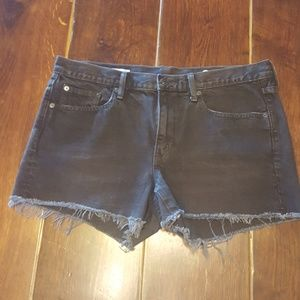 Black GAP Jean Shorts