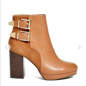 new GUESS Leather & Suede Ankle Booties-Fall Style