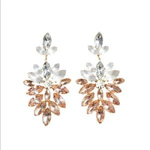 NEW H&M drop diamond cluster statement earrings