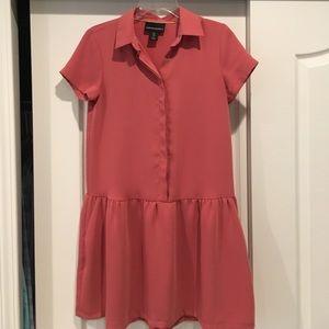 🍉 Cynthia Rowley Drop-Waist Shirt Dress