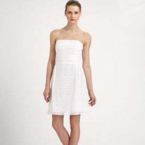 Laundry by Shelly Segal White Strapless Dress