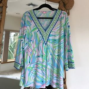 Lilly Pulitzer pastel color tunic top