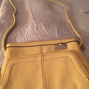 Tignanello yellow crossbody bag