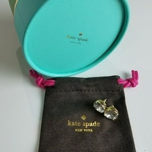 Kate Spade Small Square Studs in Clear