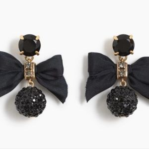 New J.crew Crystal drop earrings with bow