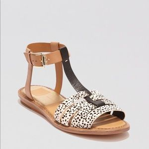 Dolce vita calf hair fishermen sandals