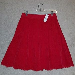 NY&Co Red Lace Skirt
