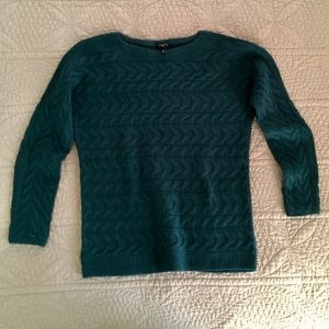 Talbots horizontal cable sweater