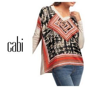 "Cabi silk ""Scarf"" top"