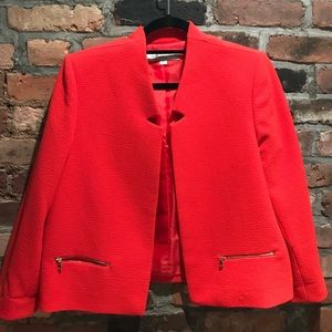 Tahari Red Cropped Blazer