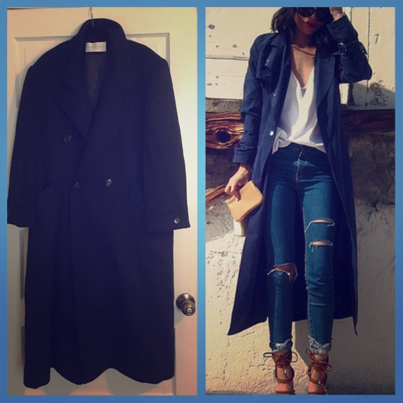 Jackets & Blazers - Vintage Wool Trench Coat