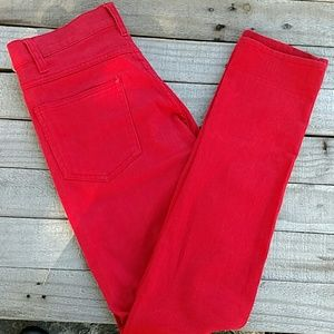 Red skinny jeans from H & M size 28