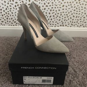 French Connection Gray Heels in gray condition!